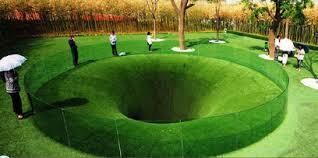 حفر ثقب في الكرة الأرضية